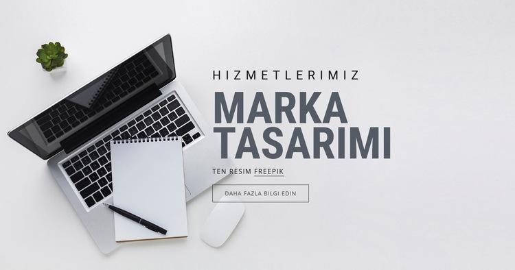 Marka Tasarımı Web Sitesi Şablonu