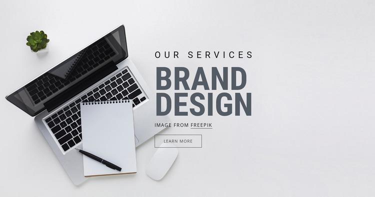 Brand Design Website Mockup