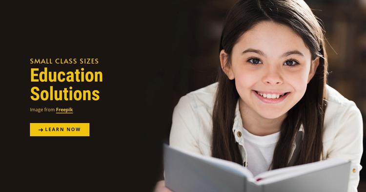 Education Solutions Website Mockup