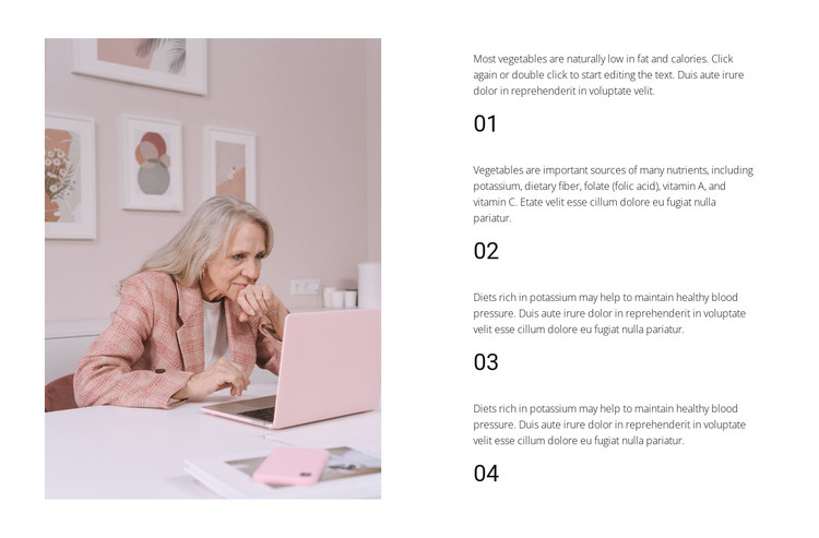 Four rules of success HTML Template