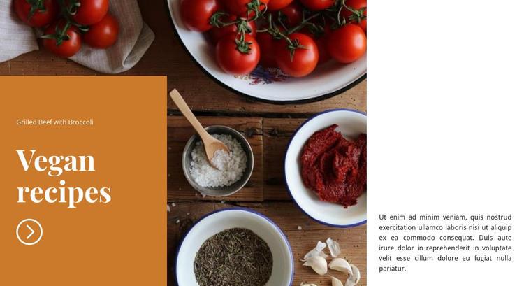 Vegan dishes HTML Template