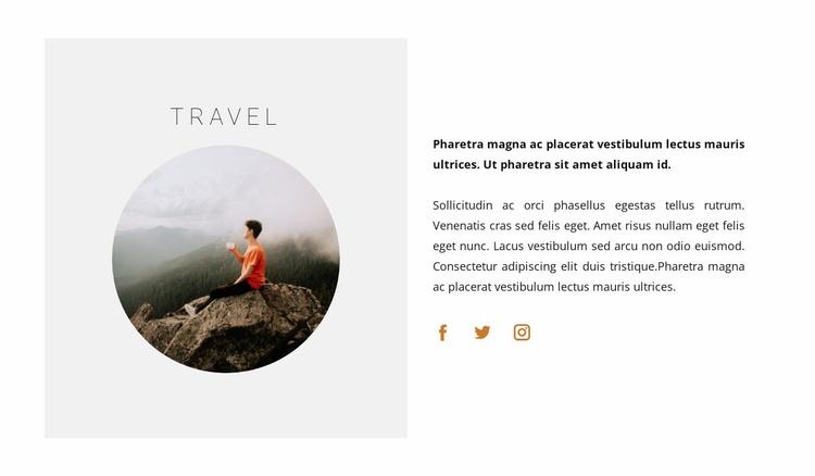 Travel for beginners Website Template