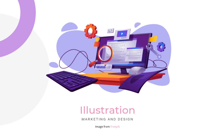 Creation illustration HTML Template