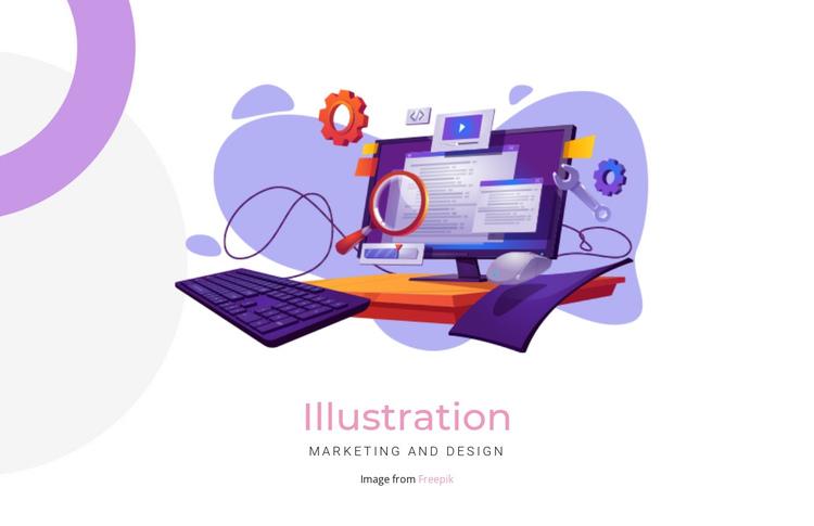 Creation illustration Website Builder Software