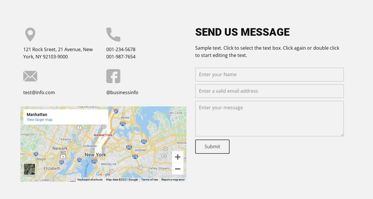 Contact our agency CSS Template