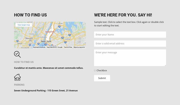 How to find us Website Mockup