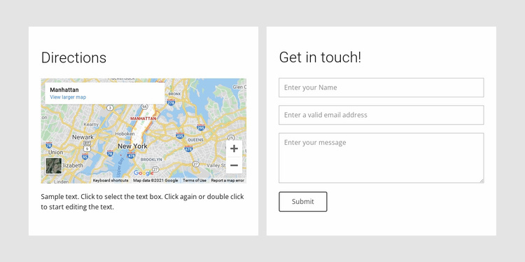 Our location info Website Template