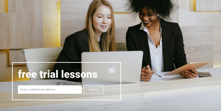 Free lessons HTML5 Template