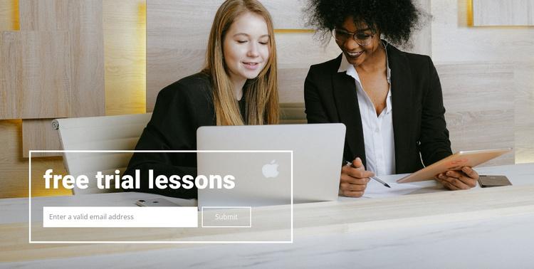 Free lessons Joomla Template