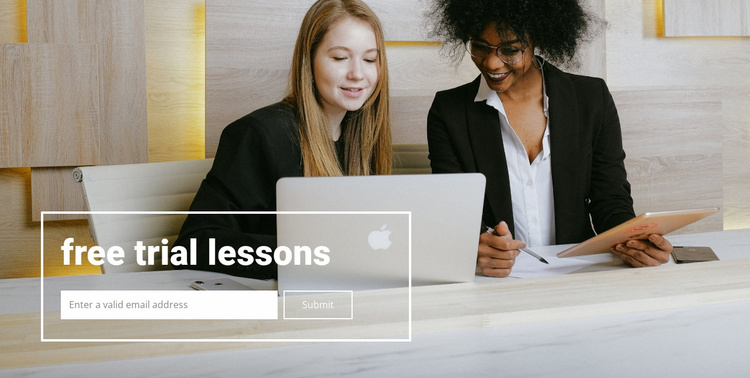 Free lessons Website Template