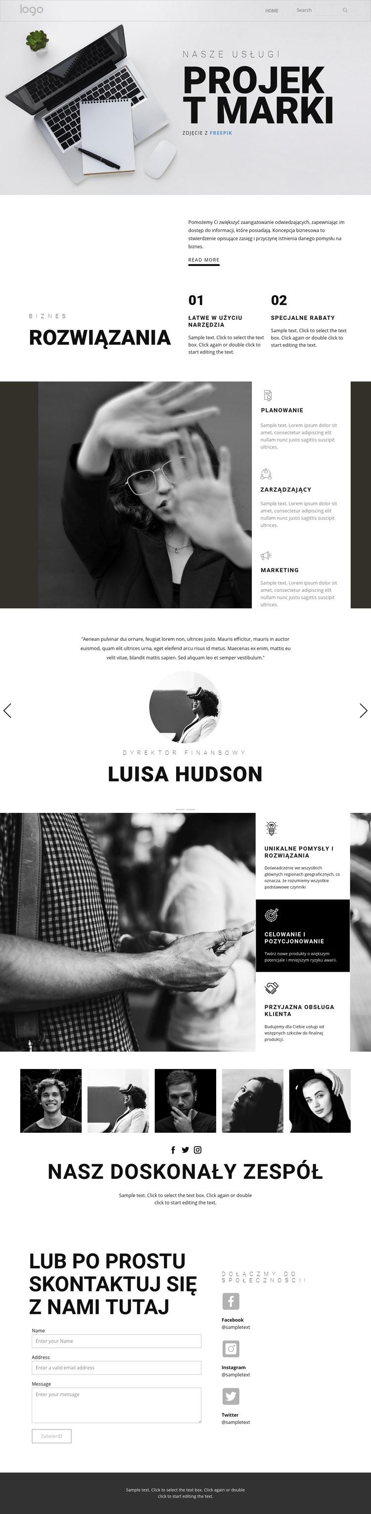 Branding dla biznesu Szablon witryny sieci Web