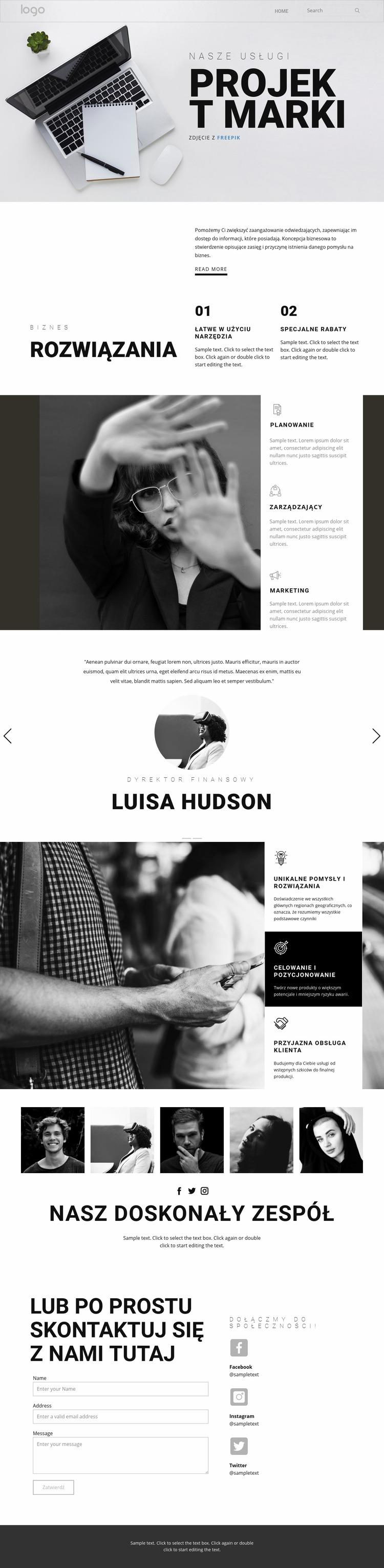 Branding dla biznesu Szablon Joomla