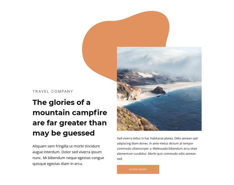 Deserted beaches HTML Template
