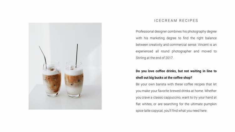 Two cold coffees Website Template