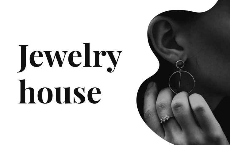 Silver jewelry HTML Template