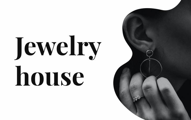 Silver jewelry Website Template