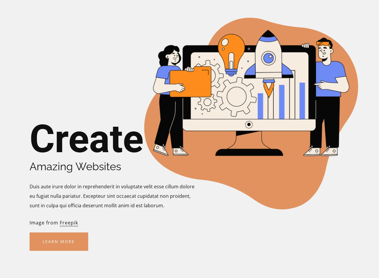 Create your page Website Template