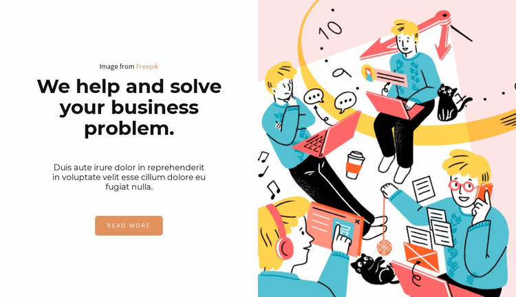 Bright illustration Website Template