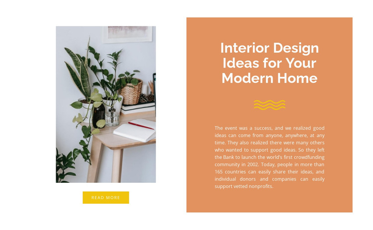 Shelves in the interior HTML Template
