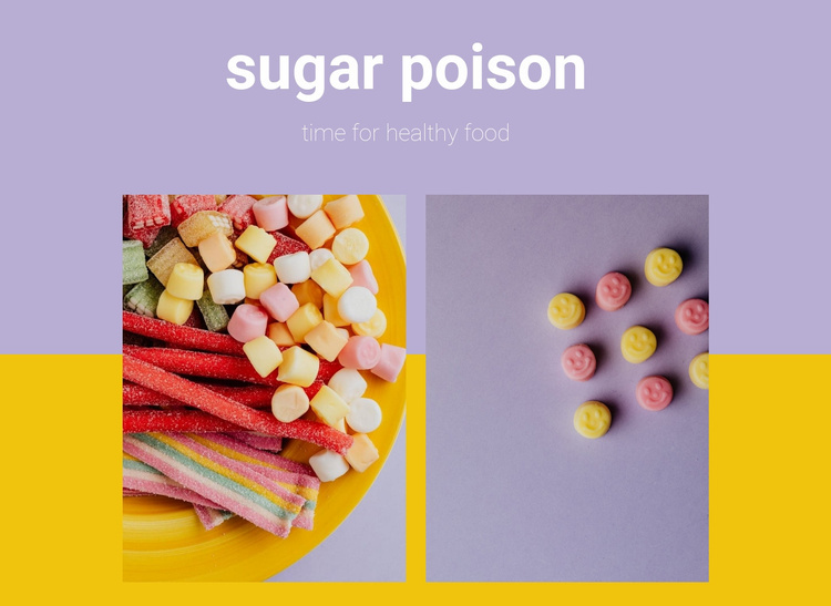 sugar poison Website Template