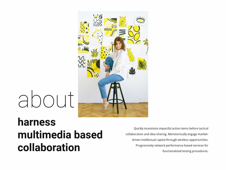 About multimedia collaboration Website Template