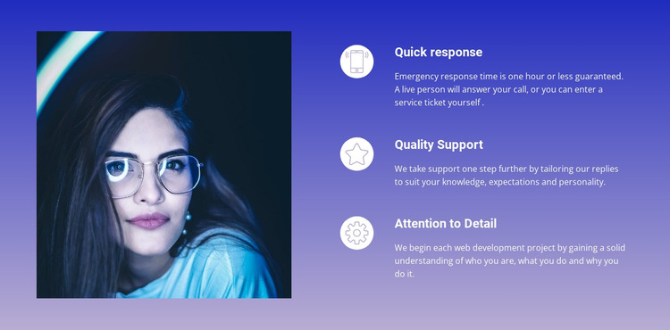 Business services on background HTML5 Template