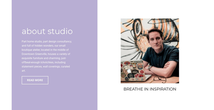 About inspiration  HTML Template