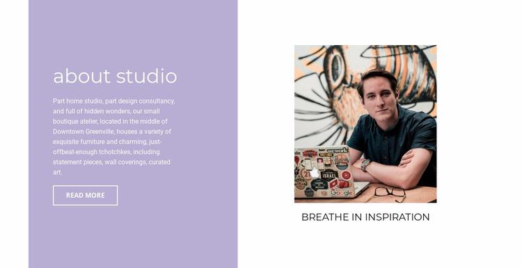 About inspiration  Html Website Builder