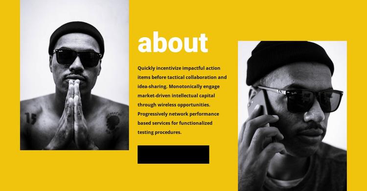 About fashion team Website Design
