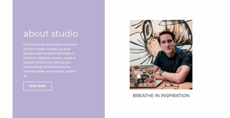 About inspiration  Website Mockup