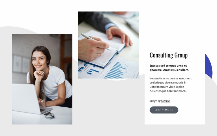 We help forward-thinking businesses Website Template