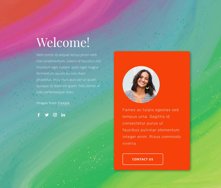 Welcome to my blog HTML Template