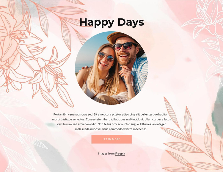 Happy days HTML Template