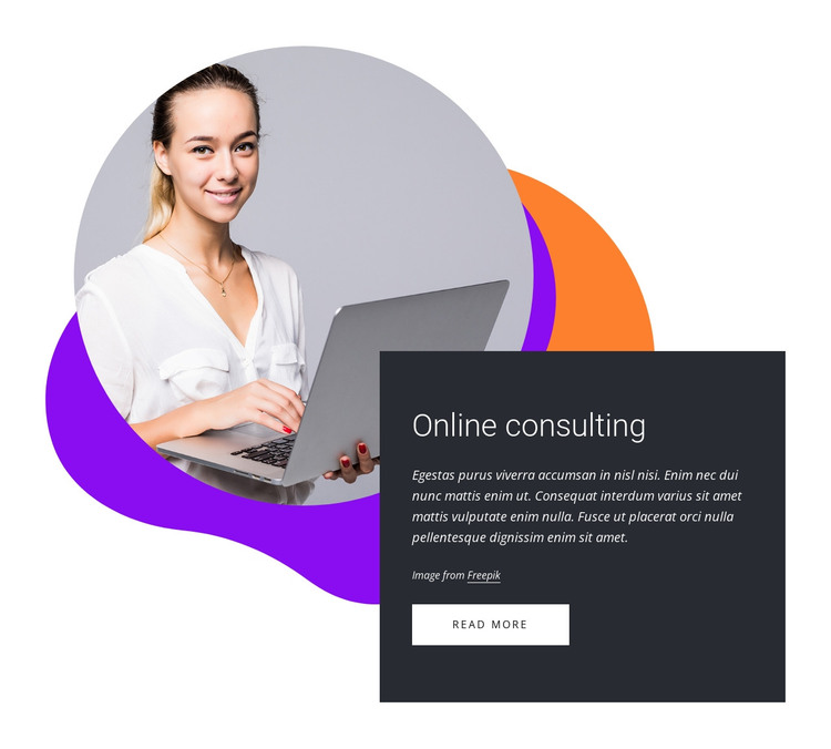 Online consulting HTML Template