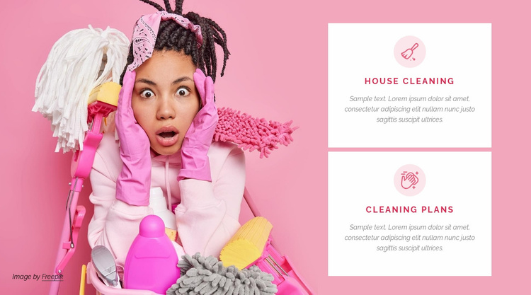 Quality cleaning services Website Template