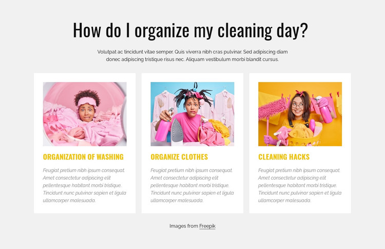 My cleaning day HTML Template