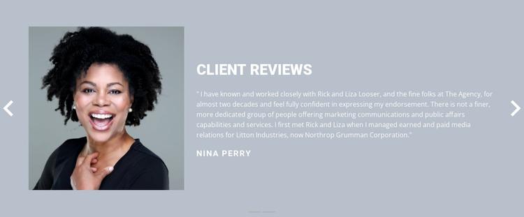 Client review  Web Design