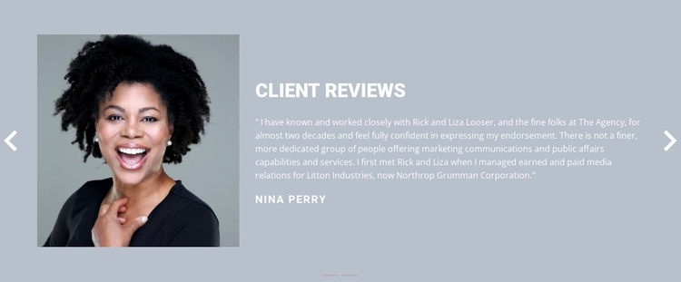 Client review  WordPress Theme