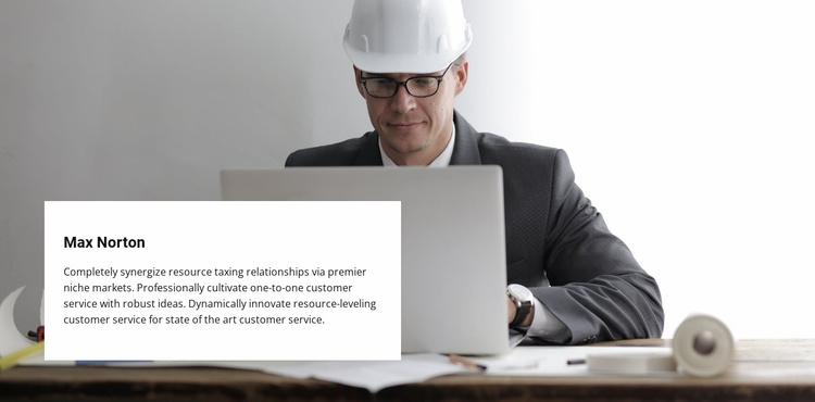 Building company team Website Template