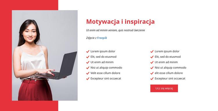 Motywuj i inspiruj swój zespół Szablon witryny sieci Web