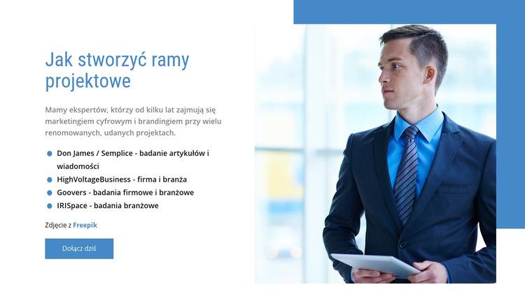 Nasze usługi doradztwa w zakresie zarządzania Szablon witryny sieci Web