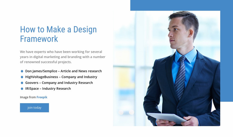 Our management consulting services Website Mockup