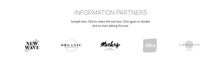Logotype of our partners Template