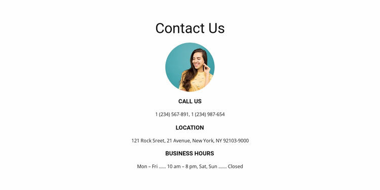Contact us soon Website Template
