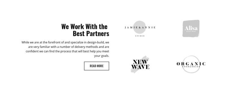 Our partners Homepage Design