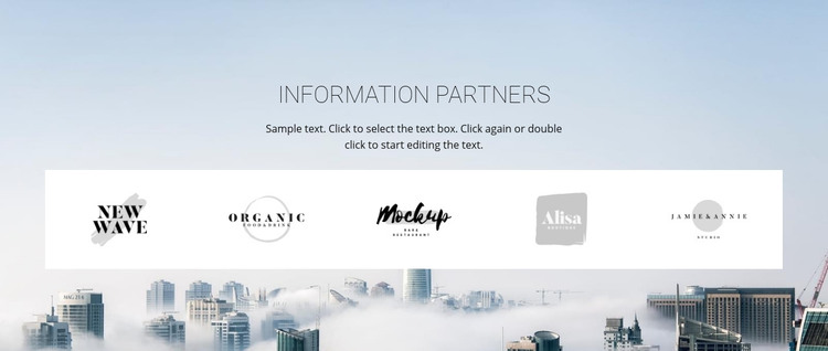 Meet our partners Homepage Design