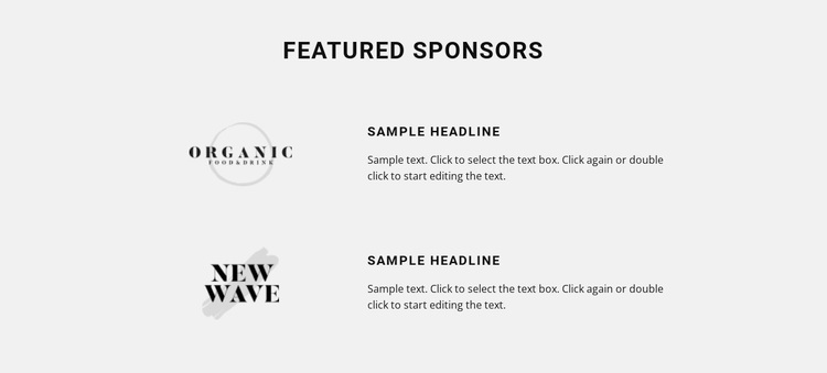 Featured sponsors  Template