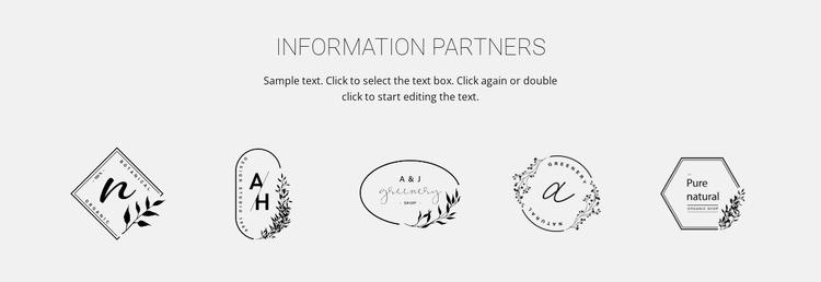 Information our partners Website Mockup