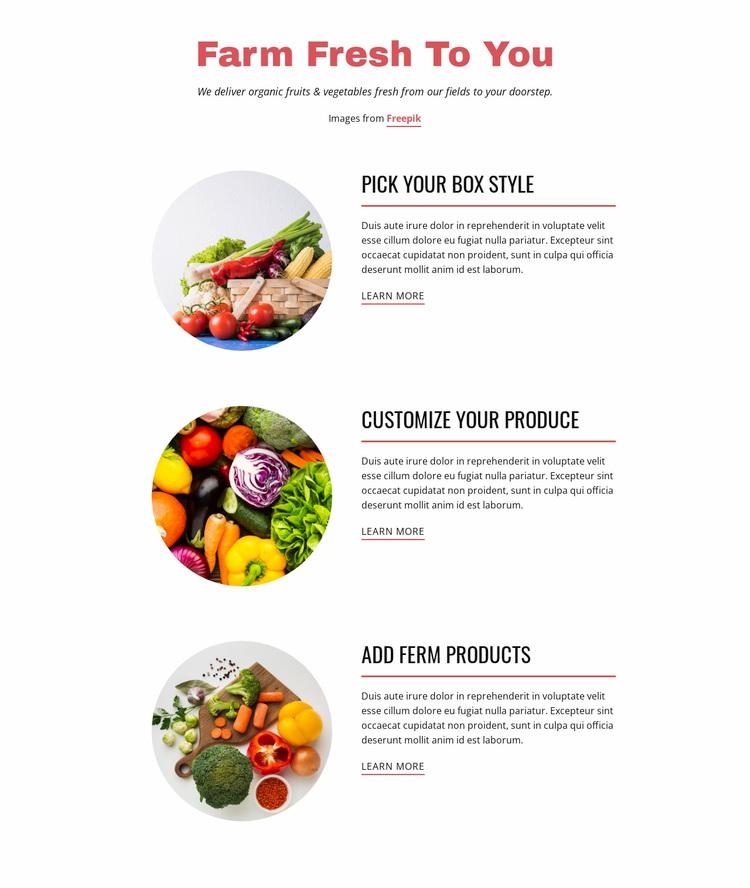 Farm  Products Website Design