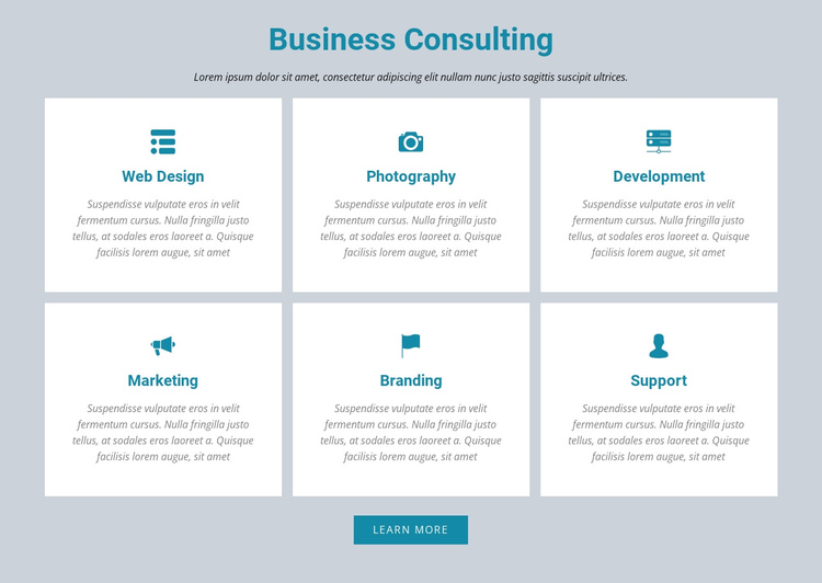 Business Consulting One Page Template